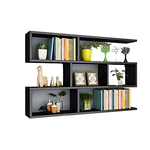 - Xiaolin Multi-Compartment Wall Shelf Bookshelf Wall Decoration Wall Cabinet Storage Shelf Color, Size Optional (Color : C, Size : 801580cm)