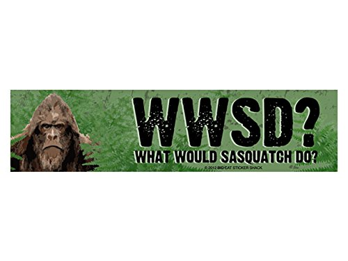 WWSD? What would Sasquatch do? (Bumper Sticker)