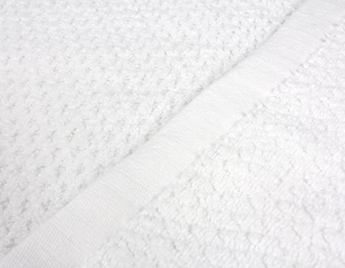 Everplush Diamond Jacquard Bath Sheet 2 Pack in White by Everplush (Image #1)