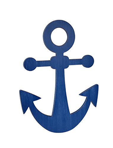 UPC 085214103594, Little Love by NoJo Separates Collection 6 Piece Anchor Shaped Wall Art, Navy