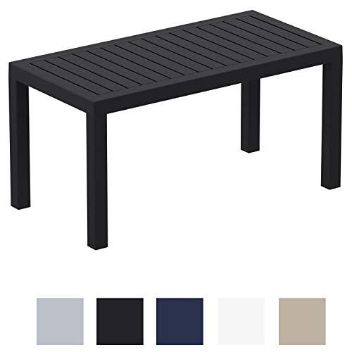 CLP Mesa Lounge Ocean Moderna I Mesa De Jardin Impermeable I Mesa De Plastico Resistente A Los Rayos UV I Mesa De Exterior Robusta I Color: Negro