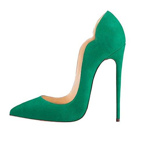 Donna con Verde Scarpe con Scarpe Tacco High Heel Soireelady Donna Tacco Alto Scarpe FOSx6q