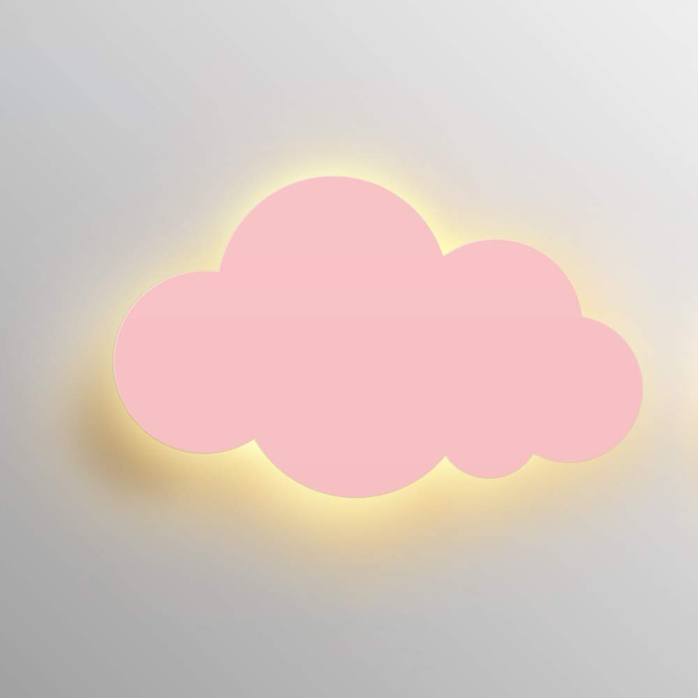 Belief Rebirth LED Wall Lamp for Kids Bedroom - Solid Color Cloud Light 15W, Creative Design Decoration Wall Hanging Sconce for Nursery, Boy/Girl/Princess Bedroom Bedside Lamp (Color : Pink) by Belief Rebirth