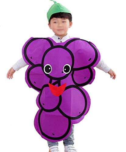 ANDES Christmas Child Party Clothing Grape Costume Suit Holidy (Grape)]()