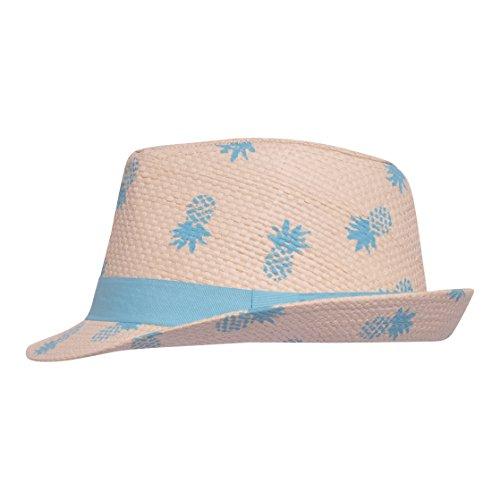 Raffia Classic Hat - Flap Happy Kids' Toddler UPF 50+ Fedora Hat, Pineapple Club, X-Large