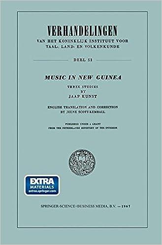 Book Music in New Guinea: Three Studies (Verhandelingen van het Koninklijk Instituut voor Taal-, Land- en Volkenkunde)