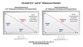"""Kantek Lcd Monitor Magnifier Filter, Fits 21.5"""" & 22"""" Lcd Widescreens Measured Diagonally (Mag22wl) 1"""