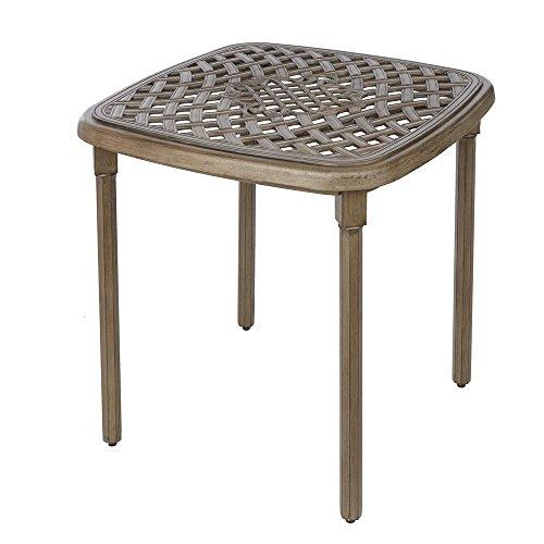 - Hampton Bay Cavasso Square Metal Outdoor Bistro Table
