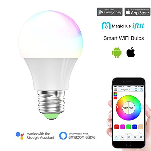 Magic Hue WiFi Smart LED Light Bulb, Multicolored...