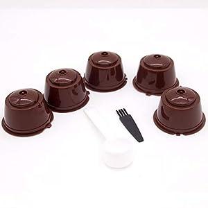 Adatto per DOLCE GUSTO filtro per capsule di capsule di caffè marrone 5 cucchiai di assemblaggio con pennello(Togames-IT)