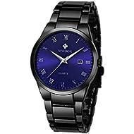 [Sponsored]WWOOR Store Men's Watch Analog Quartz Waterproof Watch with Date Fashion Business...