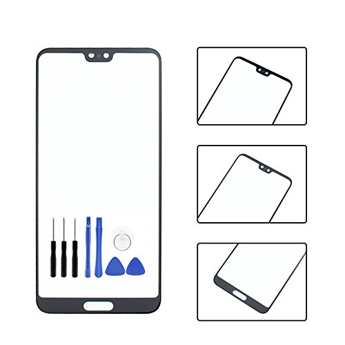 Front Panel Outer Screen Glass Lens for Huawei P20 pro - Black Front Screen Outer Glass Panel Lens Replacement for Huawei P20 pro with Opening Tool (Not LCD &Not Digitizer)
