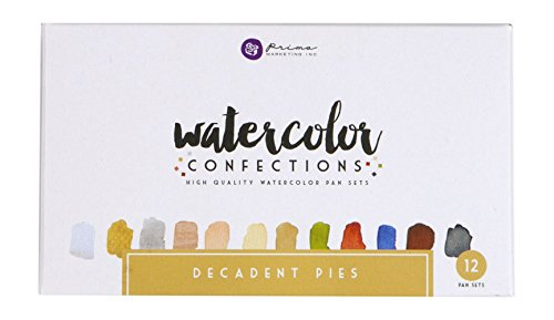 Prima Marketing Watercolor Confections: Decadent Pies
