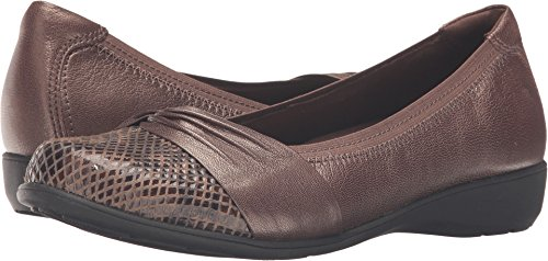 (Aravon Women's Andrea-AR Ballerina Flat,Bronze Leather,US 7.5 2E)