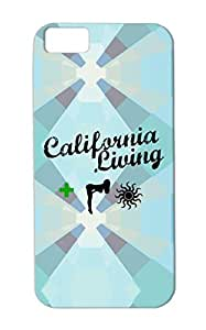 California Living Green For Iphone 5c Cities Countries California West Weed Sun MMJ Westcoast Cali Cross Summer Cover Case