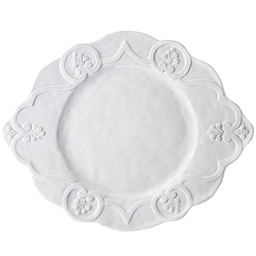 Arte Italica Bella Bianca Scalloped Charger Plate