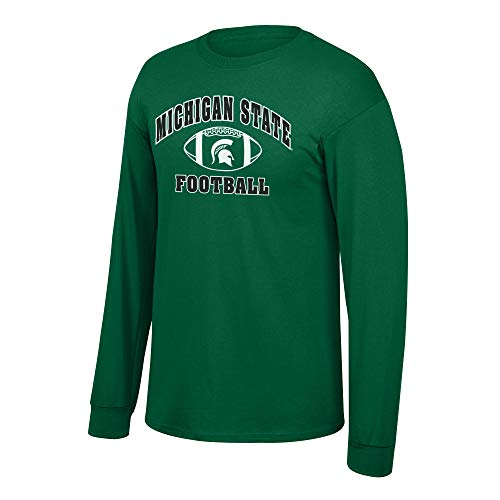 Elite Fan Shop NCAA Men's Michigan State Spartans Football Long Sleeve T-shirt Team Color Michigan State Spartans Green Large ()