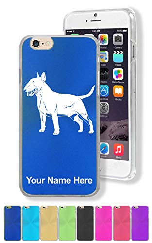 Case for iPhone 8+ Plus, Bull Terrier Dog, Personalized Engraving Included