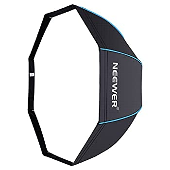 Neewer 31.5 Inches 80 Centimeters Portable Octagonal Umbrella Softbox For Studio Flash, Speedlite, With White Diffuser & Carrying Bag For Portrait Product Photography (Blackblue) 0