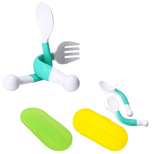 Silicone Baby Spoons /& Travel Case Set BPA Free Baby Utensils