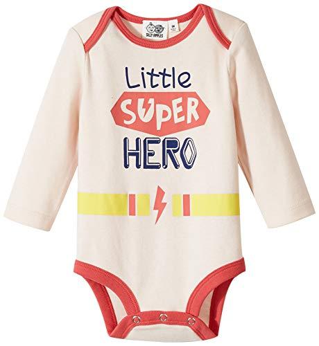 Silly Apples Baby Girls Boys Unisex Cotton Blend Long-Sleeve Superhero Bodysuit Onesies (6M) -