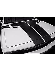 Factory Crafts T-Hood - Kit de gráficos de rayas de vinilo 3M, compatible con Dodge Challenger 2008-2013, color negro mate