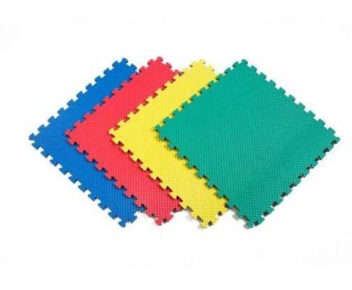 Norsk 240147 Solid Color Recyclamat Multi-Purpose Foam Flooring, Multi-Color, 4-Piece (Norsk Reversible Multi Purpose Flooring 8 Pack)