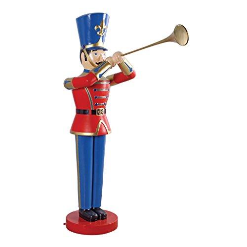 Christmas Decorations - Medium 4 Foot Tall Nutcracker Ballet Trumpeting Toy Soldier Holiday Decor Statue