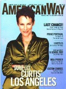 (American Airlines AMERICAN WAY Magazine. Sept. 15, 2002. Jamie Lee Curtis cover +. (AmericanWay) )