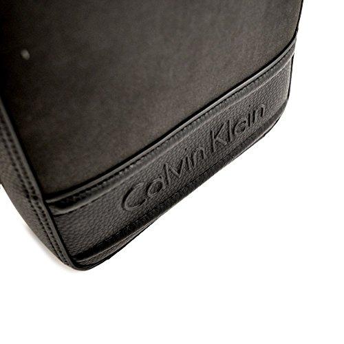Calvin Klein - Cartera de mano de Piel para hombre negro negro