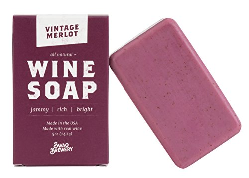 Vintage Merlot WINE SOAP | Great Gift for Women, Birthdays, Wives, Men, and All Wine Lovers | All Natural +...