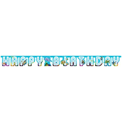Creative Converting Ocean Happy Birthday Jointed Party Banner