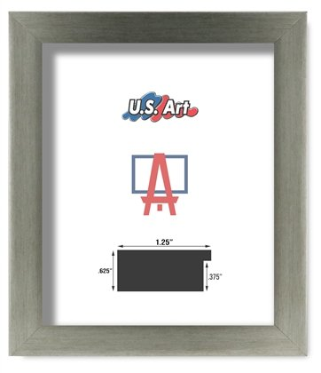 Amazon.com - US Art Frames 4x10 Chrome 1.25 Inch, Polystyrene ...