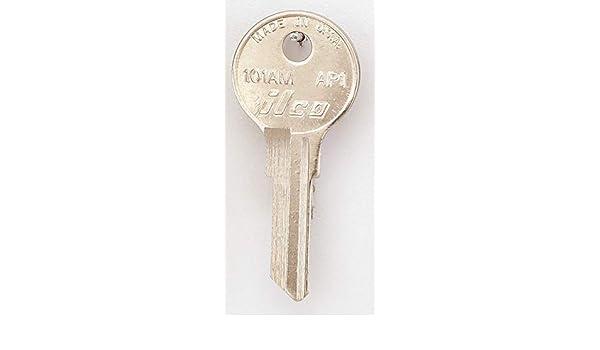Key Blank,Brass,Type AP1,6 Pin,PK10 KABA ILCO 101AM-AP1