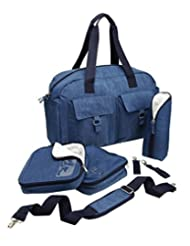 Cabin Max Baby Nappy Diaper Changing Bag with Insulated Organization Pods (Blue) by Cabin Max