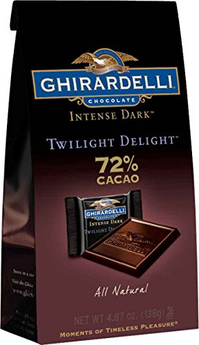 Ghirardelli Dark Chocolate Twilight Delight 72% Cacao Bar, 4.87 Oz - (8ct Case)