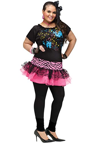 [80's Pop Party Plus Size Costume] (Plus Size Women Halloween Costume Ideas)