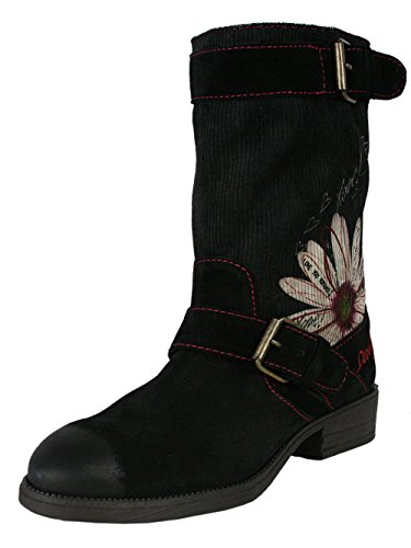 DESIGUAL Damen Designer Top Stiefel Biker Boots Schuhe - VANESSA -