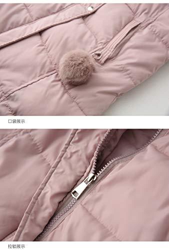 Sin Camisolas Abrigos Chaleco Casuales Sólidos Pluma Invierno Colores Termica Largos Chaquetas Acolchado Otoño Mujer Pink Informales Mangas Mujeres Elegante Espesor Encapuchado Fashion qqPw0R