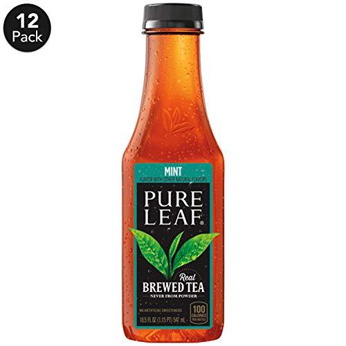 Pure Leaf Iced Tea, Mint, Real Brewed Tea, 18.5  Fl. Oz (Pack of 12)