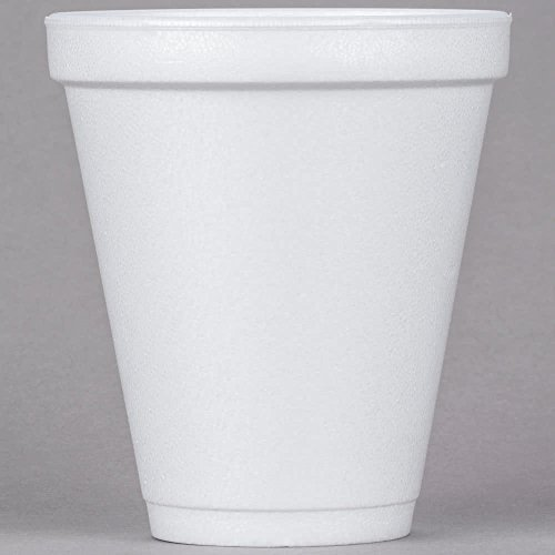 DART Container 12J16 CPC 12 oz Customizable Squat Foam Cup44; White - Cas of 1000