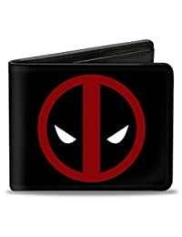 Buckle-Down Marvel Universe Wallet Deadpool Logo Black/red/white Accessory
