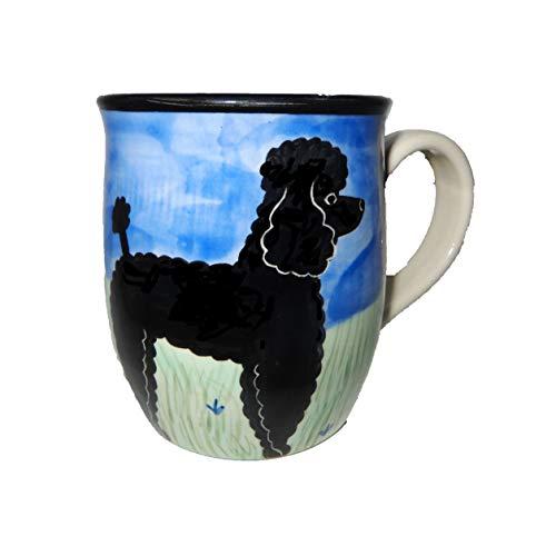 Karen Donleavy Designs Deluxe Mug Poodle Black