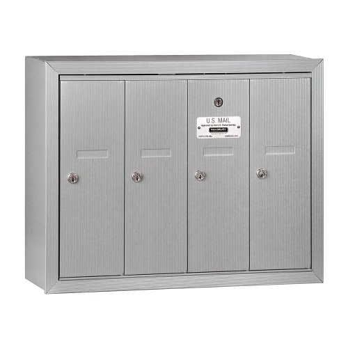 Salsbury Industries 3504ASU  Surface Mounted Vertical Mailbox with 4 Doors and USPS Access, Aluminum by Salsbury Industries