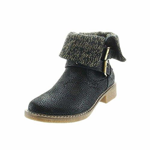 Para Negro De Botas Tela Mujer Ankle Boots München Laufsteg xvZ4n