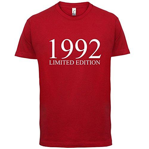 1992 Limierte Auflage / Limited Edition - 25. Geburtstag - Herren T-Shirt - Rot - XXXL