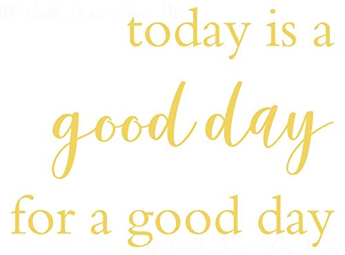 Today is A Good Day Vinyl Wall Decals Inspirational Sayings for Kitchen Wall Art, 23x17-Inch, Buttercream ()
