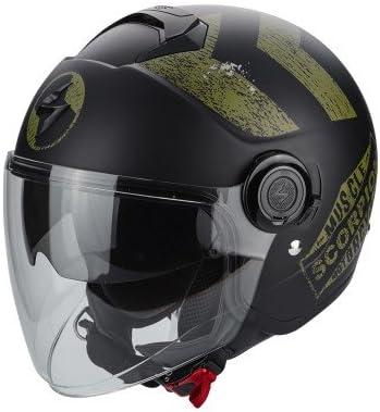 Scorpion Helm Motorrad Exo City Heritage Matt Black Khaki Xxl Auto