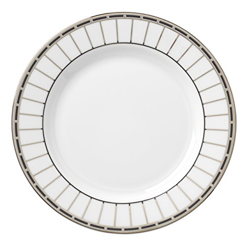 Lenox Platinum Onyx Butter Plate, White