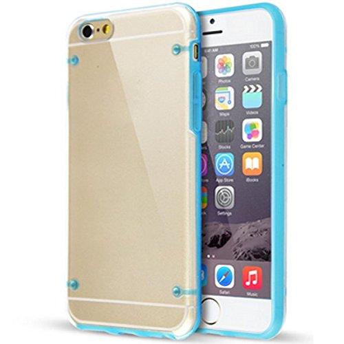 Bumper Cover für Apple iPhone 6 4,7 TPU Case Schutzhülle mit Displayschutz Glas
